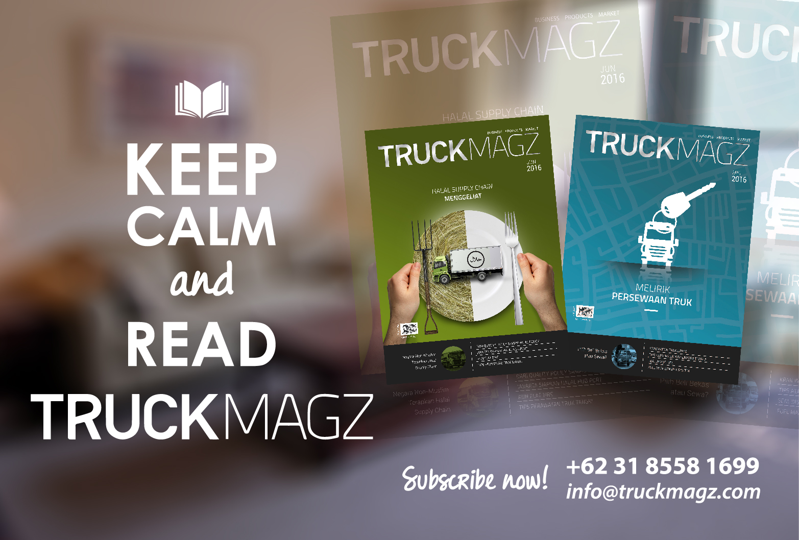 Keep Calm and Read TruckMagz